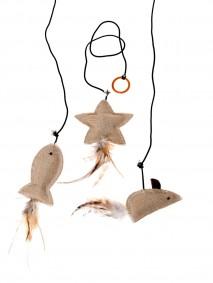 Karlie Katzenspielzeug Twinies mit Federn und Katzenminze