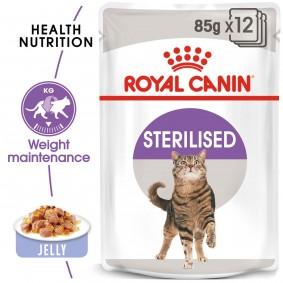 ROYAL CANIN STERILISED Nassfutter in Gelee für kastrierte Katzen 48x85g