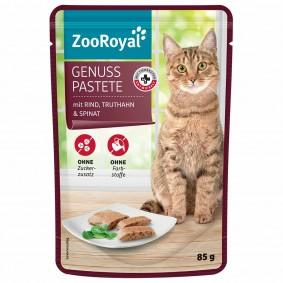 ZooRoyal Genuss Pastete mit Rind, Truthahn und Spinat