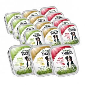 Yarrah Hundefutter Bio Mix-Set Huhn/Gemüse, Huhn, Huhn/Rind 84x150g