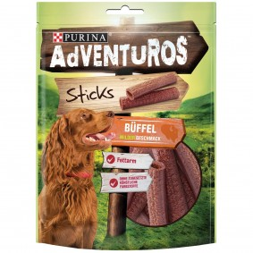 Purina AdVENTuROS Sticks, Hundeleckerli fettarm mit Büffelgeschmack