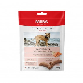 MERA pure sensitive goody snacks losos a rýže