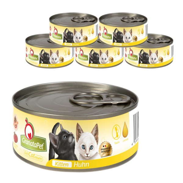 Haustier Angebot: GranataPet Katzen-Nassfutter DeliCatEssen Kitten Huhn – 6x100g