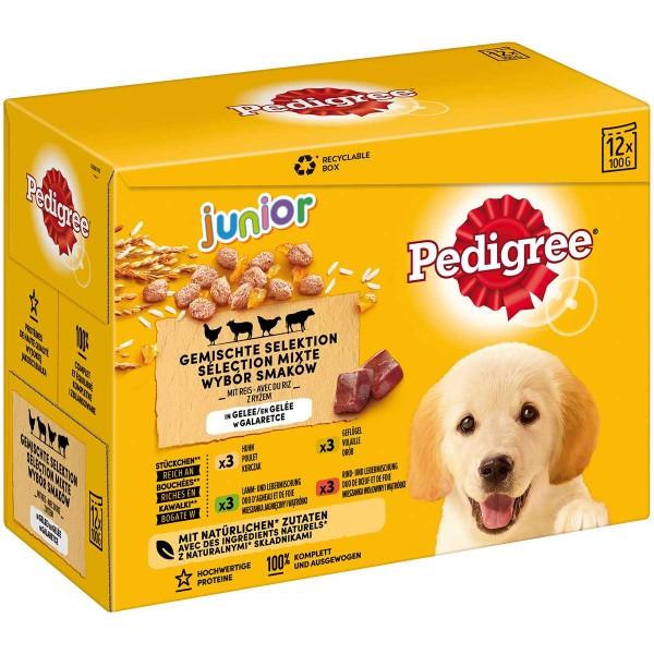 PEDIGREE Pouch Junior Gem. Selektion Multipack