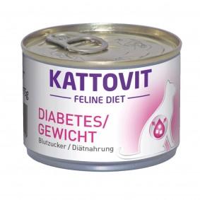 Kattovit Katzenfutter Feline Diät Diabetes/Gewicht 175g