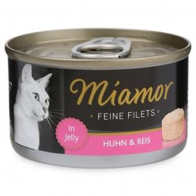 Miamor Feine Filets in Jelly Huhn und Reis 100g Dose