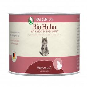 Herrmanns Bio Katzenfutter Huhn mit Karotte und Kamut