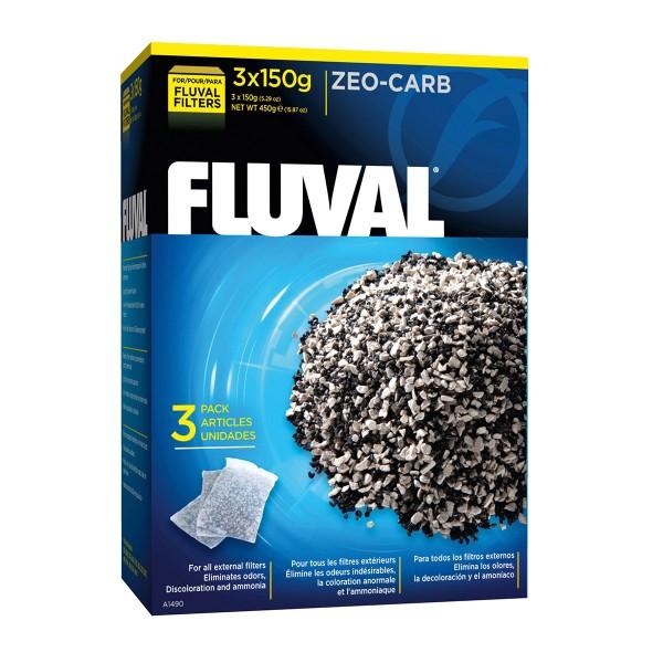Fluval Zeo-Carb – aktivní uhlí a přípravek pro odstranění amoniaku 450g (3 × 150g)