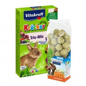 Kräcker Trio Mix mit Vitamin-Balls Sanddorn Probierpaket
