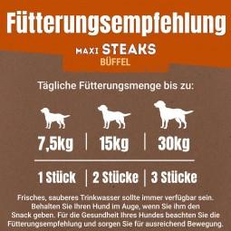Purina AdVENTuROS Maxi Steaks, Hundeleckerli getreidefrei mit Büffel