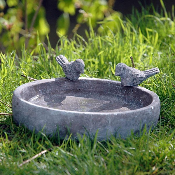 dobar Vogeltränke Pool-Oase 18 cm aus Keramik