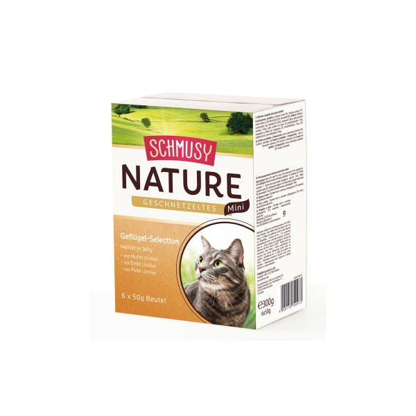 Schmusy Nature Geschnetzeltes Mini Geflügel Selection 6x50g