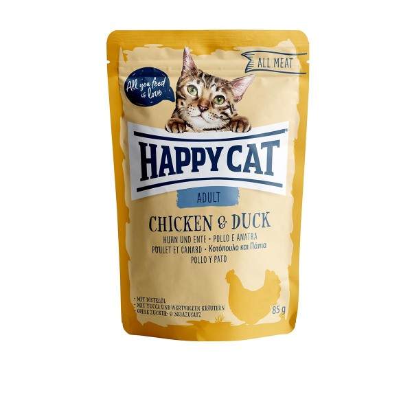 Happy Cat Pouches - All Meat Adult Huhn & Ente