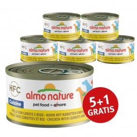 Almo Nature HFC Cuisine Dog Huhn mit Karotten und Reis 5+1 gratis