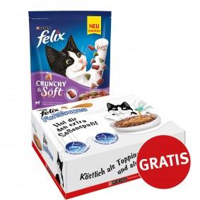 Felix Crunchy & Soft mit Lamm, Truthahn und Gemüsenote 4x950g plus FunSauces Mischpaket gratis