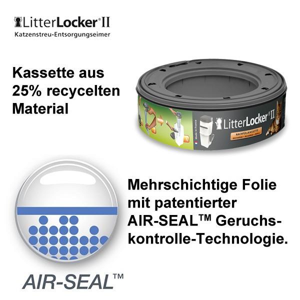 LitterLocker 2 - Nachfüllkassette in 3er Pack