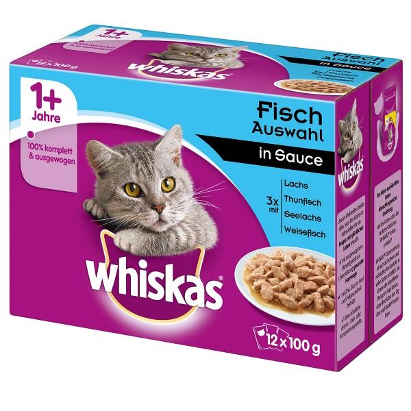Whiskas Adult 1+ Fischauswahl in Sauce 12x100g
