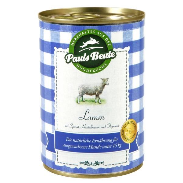 Pauls Beute Hundefutter Lamm
