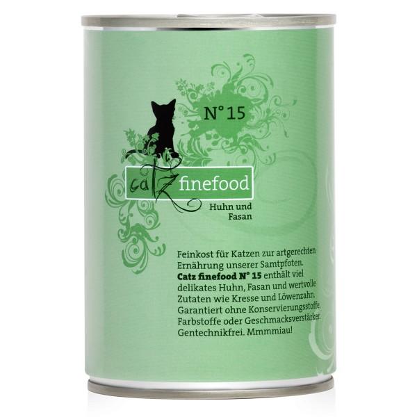 CATZ Finefood Katzen Nassfutter No. 15 Huhn & Fasan 400g