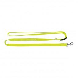 Trixie Flash Joggingleine USB S-XL 1,85-2,55 m/25 mm neongelb