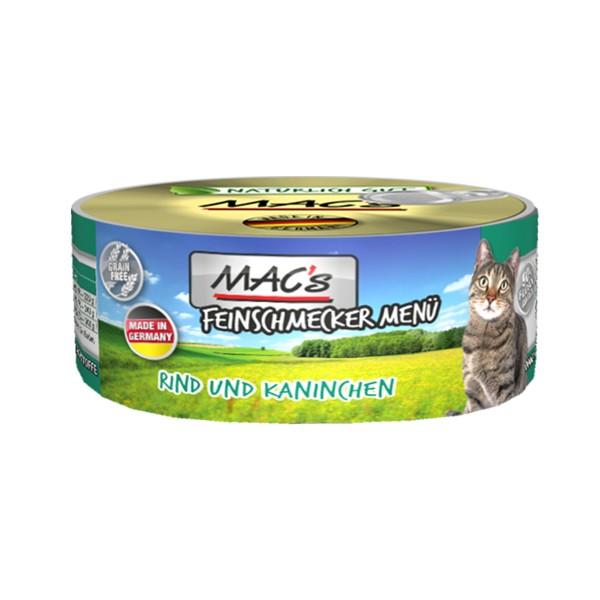 MAC's Cat Feinschmecker Menü Rind und Kaninchen