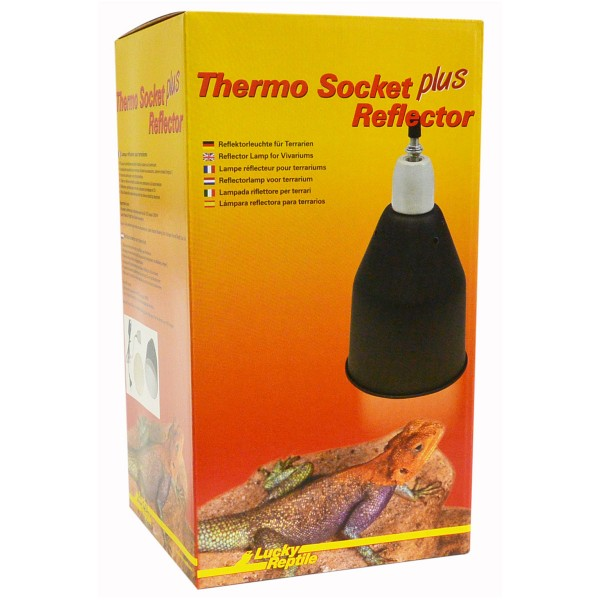 Lucky Reptile Thermo Socket + Reflector schwarz