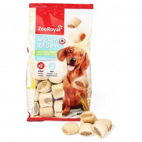 ZooRoyal Hundesnack Kräcker Röllchen mit Huhn, Rind oder Lamm 400g