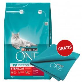 Purina One SterilCat Rind 3kg plus Decke gratis