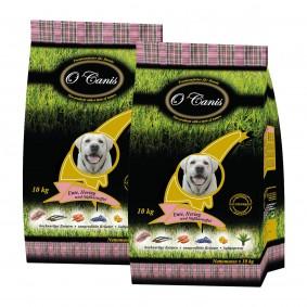 O´Canis Premiumfutter für Hunde mit Ente, Hering und Süßkartoffel