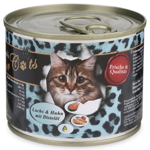 OCanis Katzenfutter Huhn, Lachs und Distelöl 200g - 200g