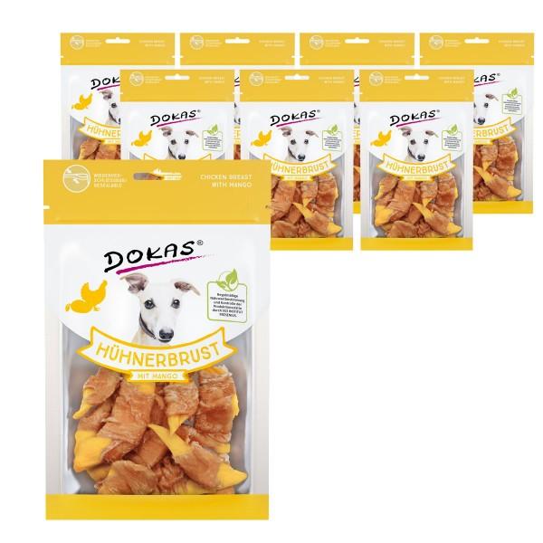 Dokas Hundesnack Hühnerbrust mit Mango 8x70g