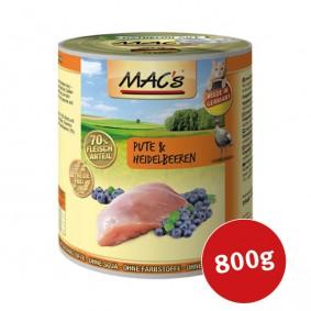 MAC's Cat Nassfutter Fleischmenü Pute & Heidelbeeren