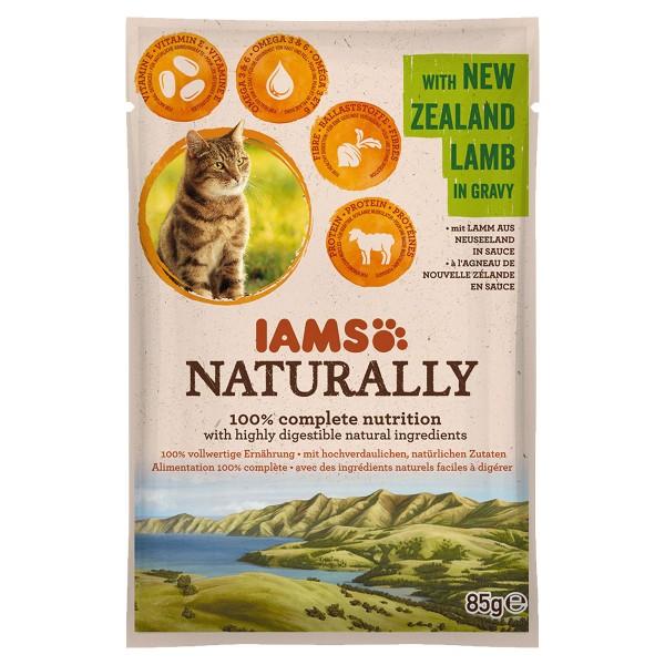 IAMS Naturally Katze Nassfutter Adult Lamm in Sauce