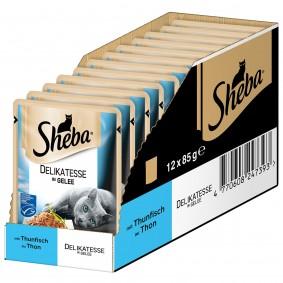 Sheba Katzenfutter Delikatesse in Gelee Thunfisch (MSC)