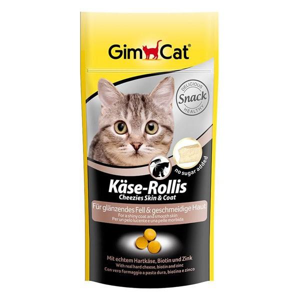 GimCat Katzensnack Käse-Rollis Skin & Coat 40g