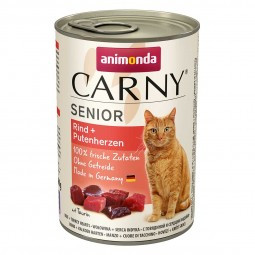 Animonda Katzenfutter Carny Senior Rind und Putenherzen