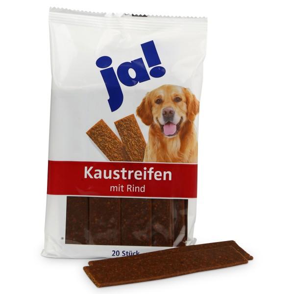 ja! Hundesnack Kaustreifen mit Rind 20 Stück