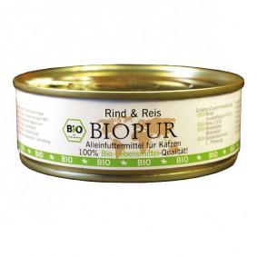 BIOPUR Katzenfutter Bio Rind, Reis Glutenfrei 200g