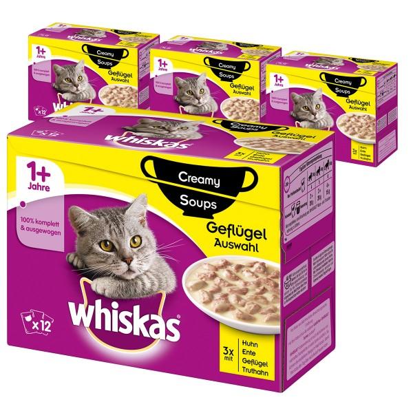 Whiskas Adult 1+ Creamy Soups Geflügelauswahl 48x85g
