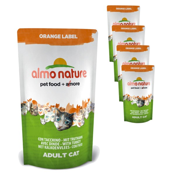 Almo Nature Katzen-Trockenfutter Orange Label 5x750g