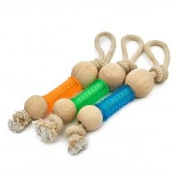 Earthy Pawz Holz Hundespielzeug Kugel 5x5x35,5cm