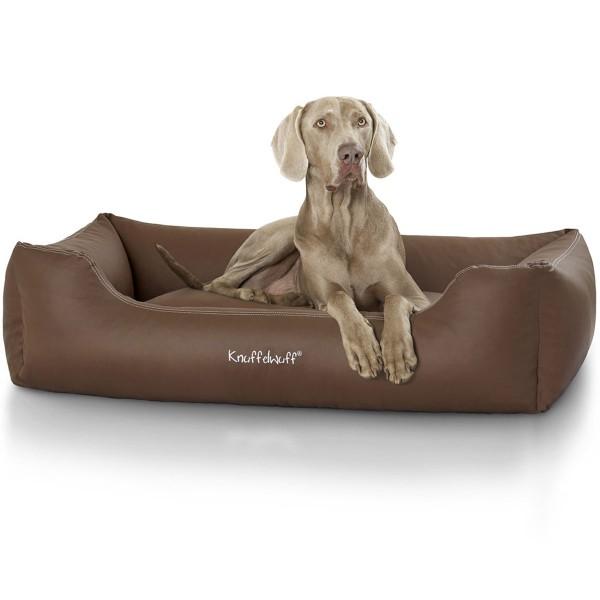 Knuffelwuff Leder Hundebett Sidney Braun XL AMZSIDNEY-7