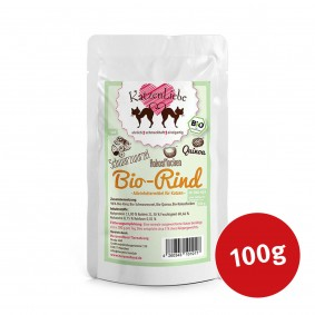 Katzenliebe Bio-Rind mit Bio-Schwarzwurzel, Bio-Quinoa, Bio-Kokosflocken 100g