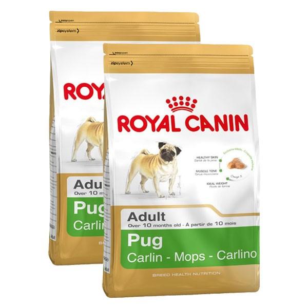 Royal Canin Hundefutter Pug 25 Adult für Möpse 2x3kg