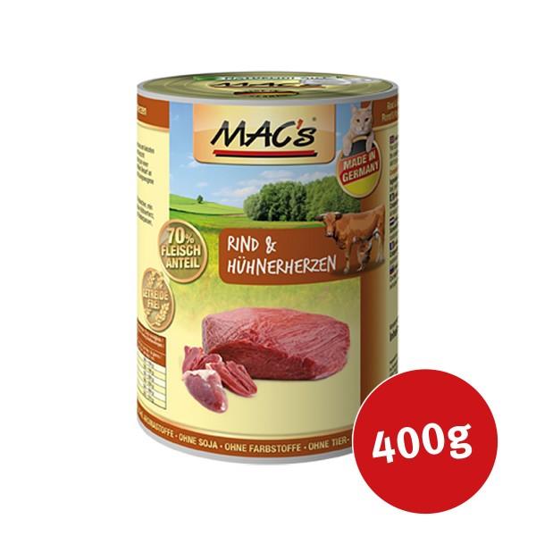 MAC´´s Cat Futter Fleischmenü Rind & Hühnerherz...