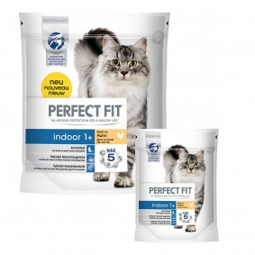 Perfect Fit Indoor 1+ reich an Huhn 2x1,4kg plus 6x190g gratis