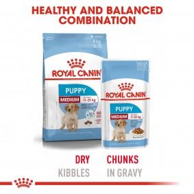 Royal Canin Medium Junior 15kg + 10x140g