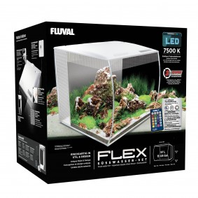 Fluval Aquarium Flex Set 57 L weiß