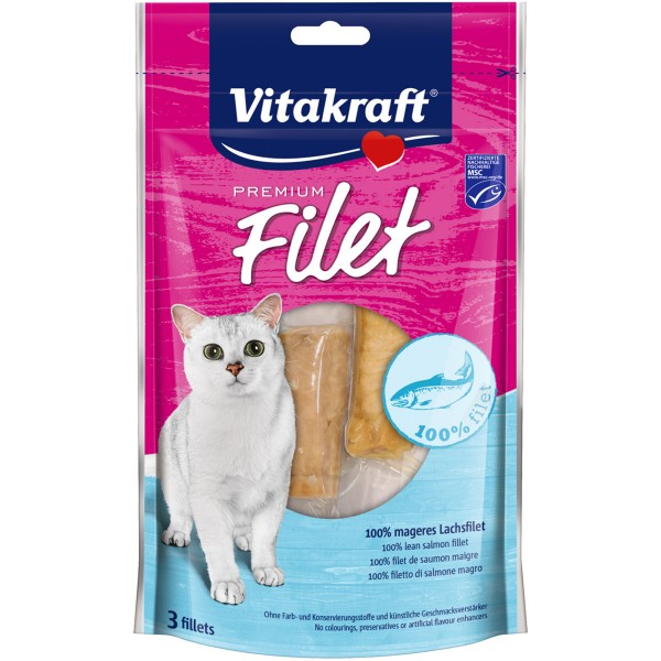 Vitakraft Katzensnack Premium Filet Lachs 3 Stück