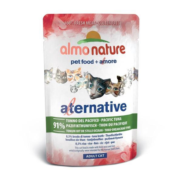 Haustier: Almo Nature Alternative wet Cat Pazifikthunfisch 24x55g